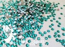Стеклянные стразы Люкс ss6, ss16 и ss20, цвет blue zircon