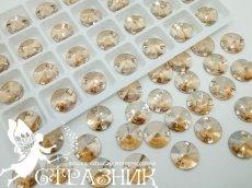 Стеклянные стразы Crystal Unite Golden Shadow 10мм и 14мм