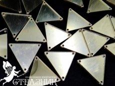 Пришивные зеркала 28х28мм Lt.Gold
