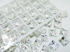 Стеклянные стразы Crystal Unite 10х10мм и 12х12мм