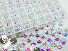 Стеклянные стразы Crystal Unite 8мм, 10мм, 12мм, 14мм Crystal AB