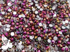 Стеклянные стразы Люкс ss20, ss16, ss6 цвет Rose Gold AB