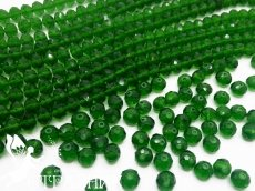 Бусины Стекло Рондели 8мм Dark Green
