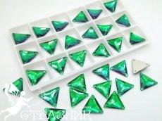 Стеклянные стразы Crystal Unite Emarald16мм