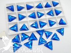 Стеклянные стразы Crystal Unite Capri Blue 16мм