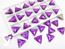 Стеклянные стразы Crystal Unite Amethyst 16мм
