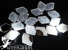 Пришивные зеркала 24*34мм Silver