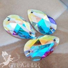 Пришивные стразы Preciosa Crystal AB 12х7мм, 18х10,5мм, 28х17мм