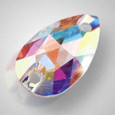 Swarovski арт. 3230 Crystal AB пришивные стразы 12х7мм и 18х10.5мм
