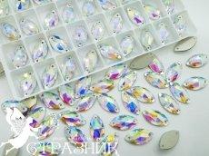 Стеклянные стразы Crystal Unite 7х15мм и 9х18мм