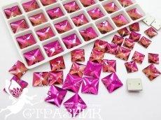 Стеклянные стразы Crystal Unite Fuchsia 10мм, 12мм, 14мм