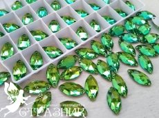 Стеклянные стразы Peridot Crystal Unite 7х15мм и 9х18мм