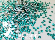 Стеклянные стразы Люкс ss6, ss12, ss16, цвет blue zircon
