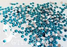 Стеклянные стразы Люкс ss6, цвет Peocock Blue