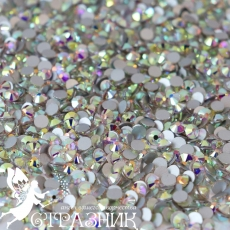 Стеклянные стразы Люкс ss12, ss16, ss20 цвет Crystal АВ