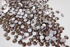 Стеклянные стразы Люкс ss12, s16, ss20, ss30, ss34 цвет Jet Hematite
