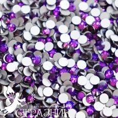 Стеклянные стразы Люкс ss12, ss16, ss20 цвет Purple Velvet