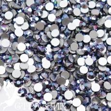 Стеклянные стразы Люкс ss16, ss20, цвет Cyan Metal