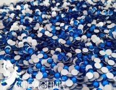 Стеклянные стразы Люкс ss6, ss8, ss10, ss12, ss16, ss20, ss30 цвет Capri Blue