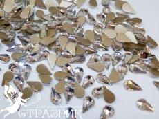 Стеклянные стразы 5х8мм, цвет Crystal