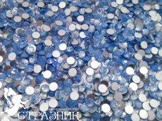 Стеклянные стразы Люкс ss20, ss16 и ss6  цвет Blue Opal
