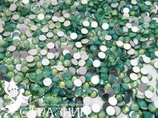 Стеклянные стразы Люкс ss20, ss16 и ss6  цвет Green Opal