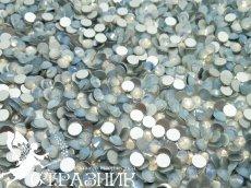 Стеклянные стразы Люкс ss20, ss16, ss6, ss4  цвет White Opal