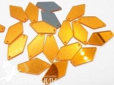 Пришивные зеркала 15*28мм Gold