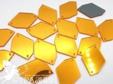 Пришивные зеркала 24*34мм Gold
