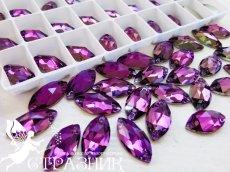 Стеклянные стразы Amethyst Crystal Unite 7х15мм и 9х18мм