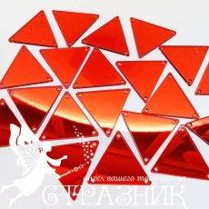 Пришивные красные зеркала 28х28мм