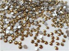 Стеклянные стразы Люкс ss12/16/20/30/34, цвет Gold