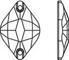 Swarovski арт. 3211 Crystal AB пришивные стразы 14х9мм и 18х12мм