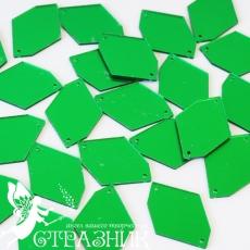 Пришивные зеркала 24*34мм green