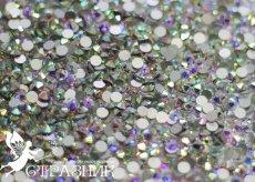 Стеклянные стразы Люкс ss30, ss34, ss40, ss50 цвет Crystal АВ